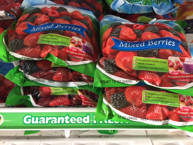 Dollar Store Frozen Berries