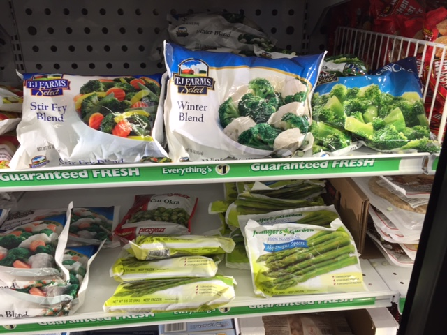 dollar store frozen vegetables
