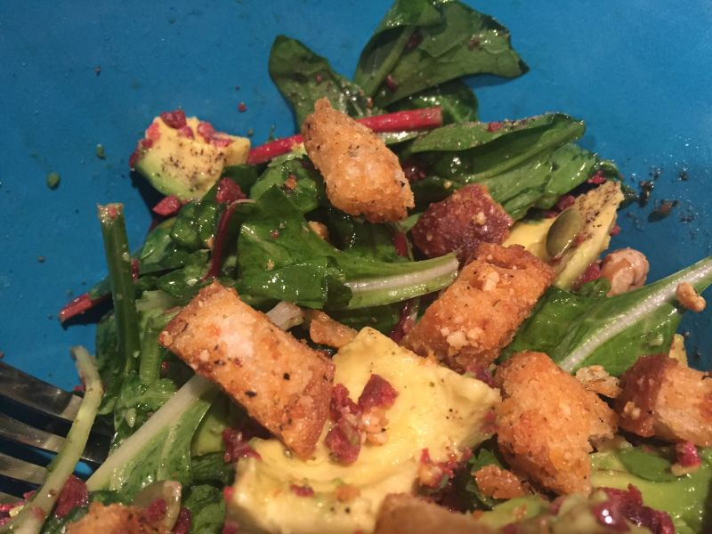 Kelly's Croutons on Salad