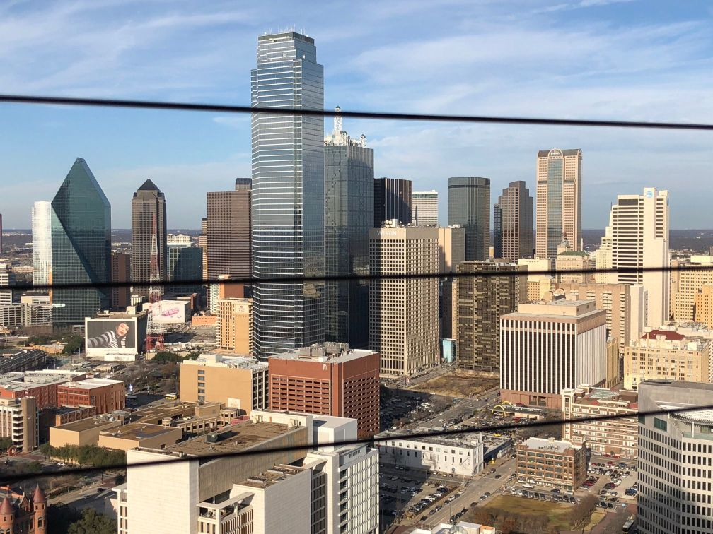 View of Downtown Dallas from GeO-Deck